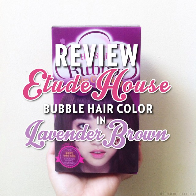 Review Etude House Bubble Hair Color In Lavender Brown Moonsoon