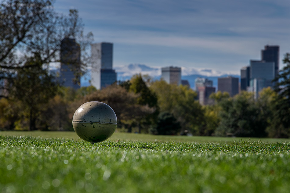 Denver Skyline from the Back Tees, City Park Golf Course