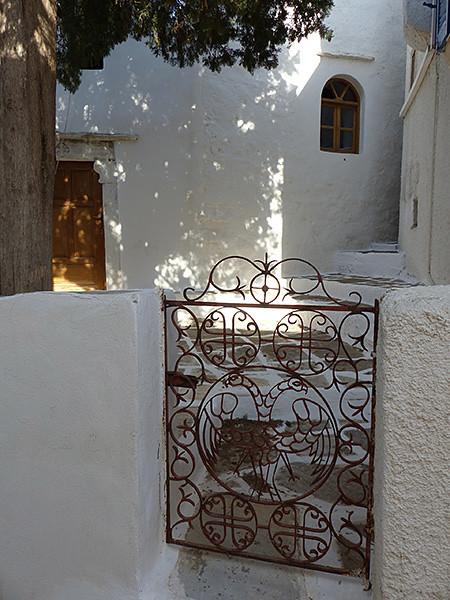 grille église Lefkes