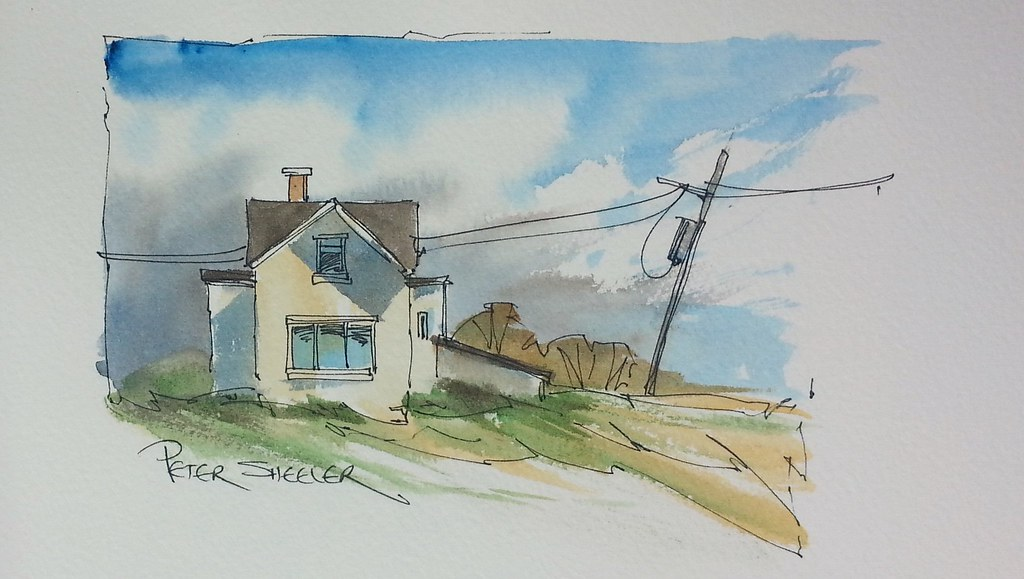 Line Drawing With Watercolor : A beginners line and wash tutorial video latest
