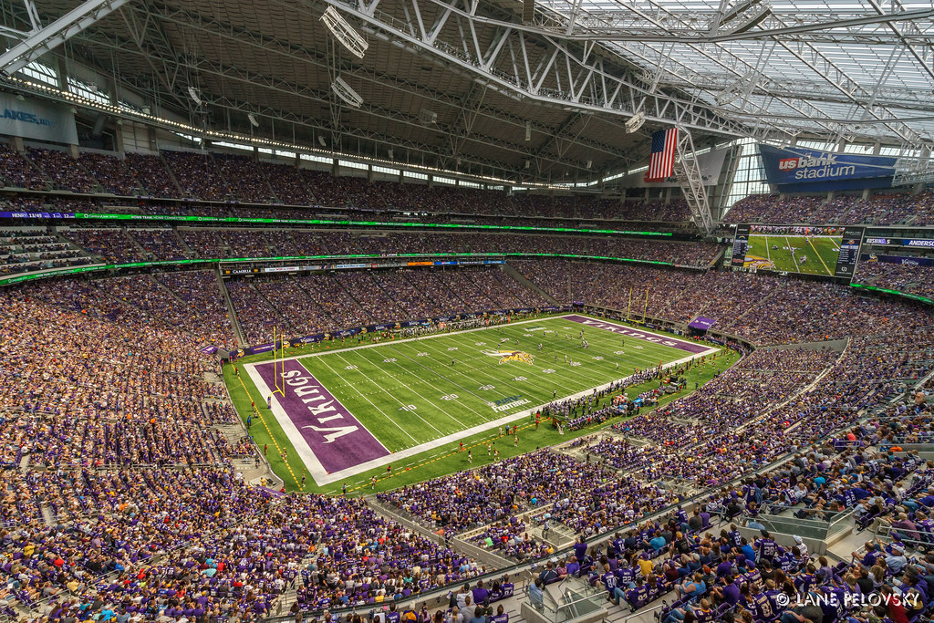 Us Bank Stadium North West End Zone First Football