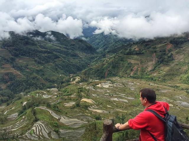 Sele en los arrozales de Yuanyang (Yunnan, China)