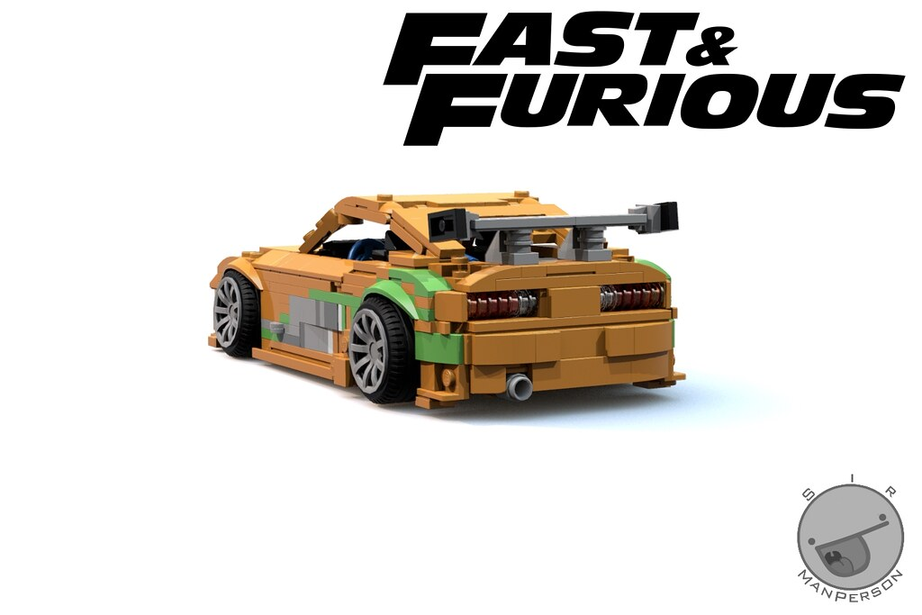 fast and furious toyota supra rear 10 wide lego flickr. Black Bedroom Furniture Sets. Home Design Ideas
