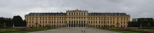 Schloss Schönnbrunn bei weniger schönem Wetter