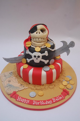 Who says pirates are just for kids? This grown-up version is sure to shiver many timbers! The Pirate Cake - from £90.