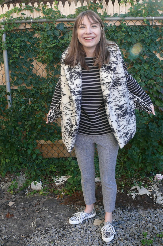 Named Clothing Tala Faux Fur Vest | Ginger Makes