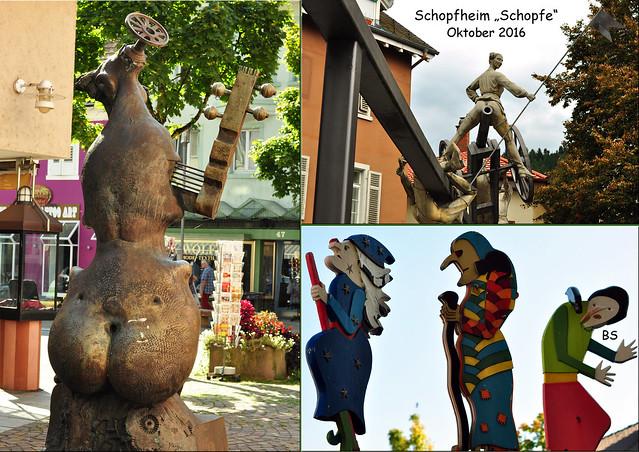 Kleine Schwarzwald-Tour, Oktober 2016 ... Schopfheim, Schopfe, Kunst im öffentlichen Raum ... Fotos: Brigitte Stolle
