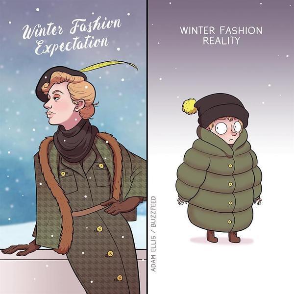 зима ожидание реальность