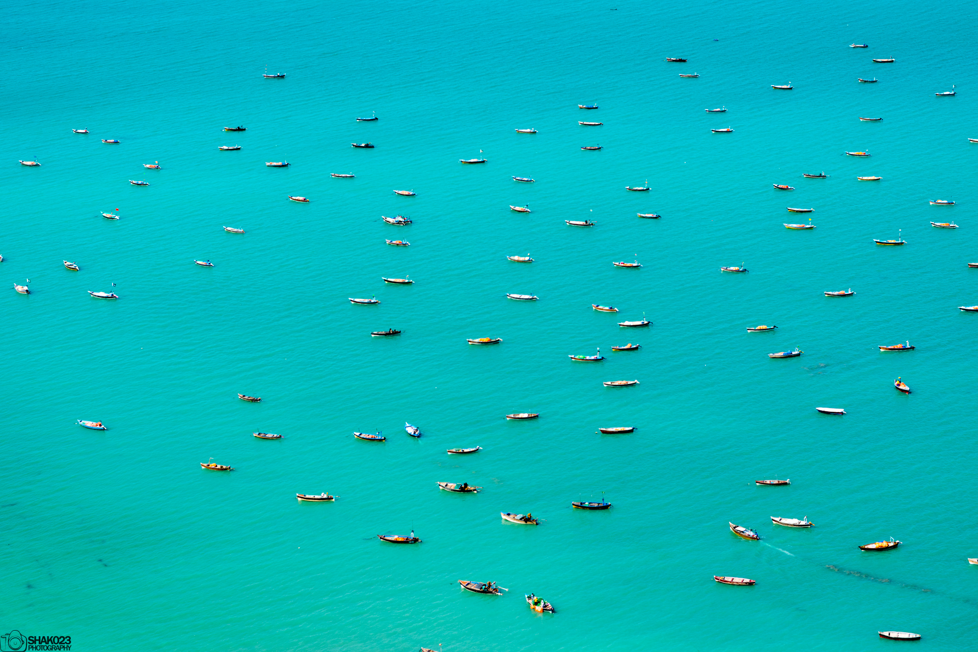 Fishing Boats off the Coast of Gwadar, Balochistan, Pakistan [1920x1280]