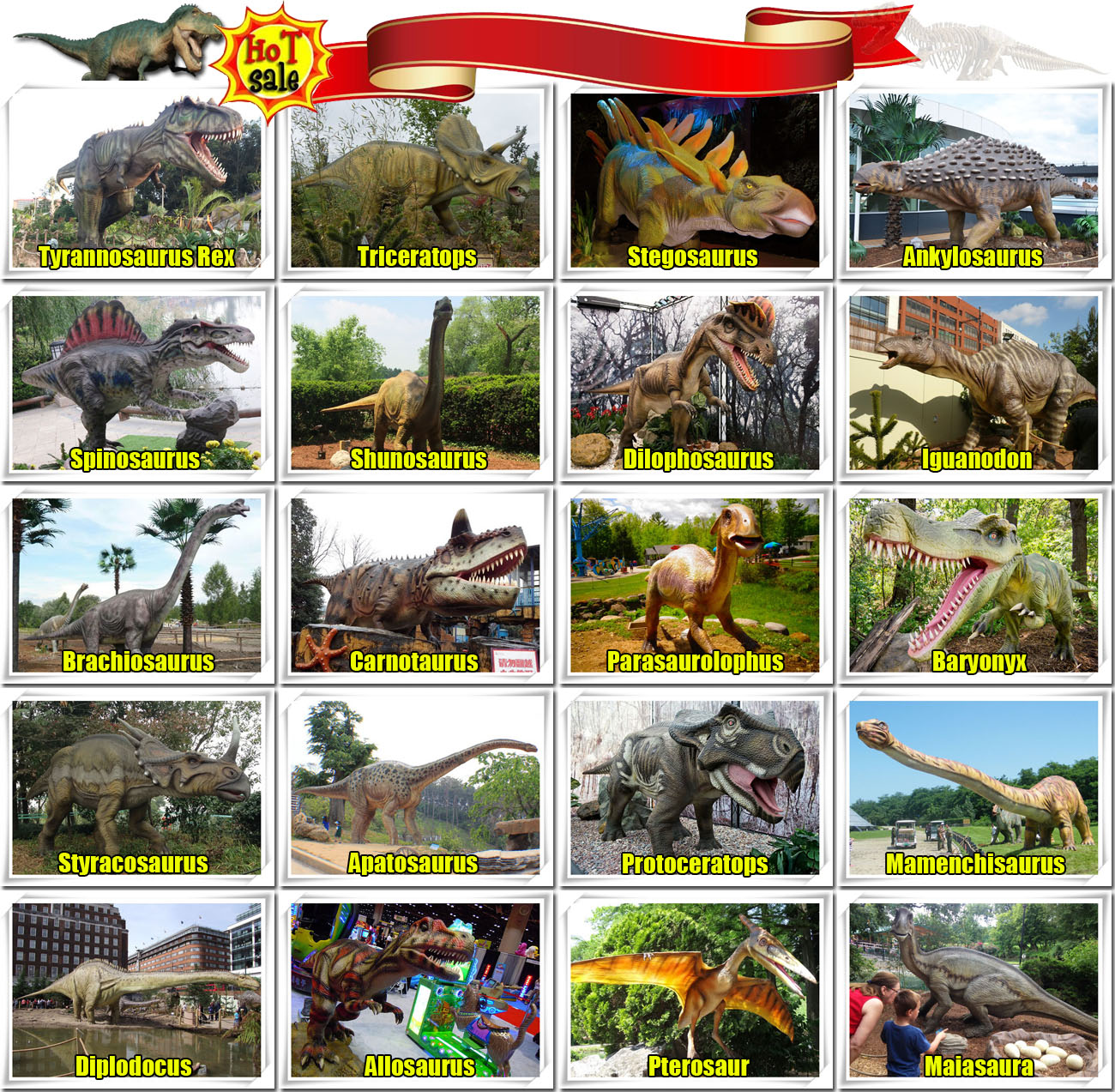 Animatronic Dinosaurs Catalog