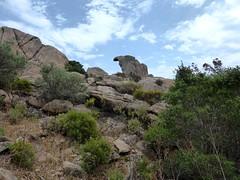 Formes diverses de rochers sur la trace NE de la crête de Ghjuncaghjola