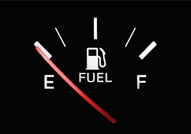 Empty fuel gauge
