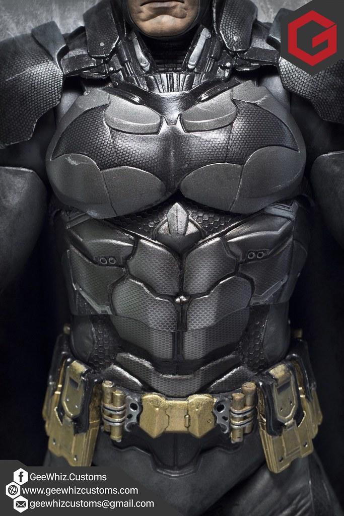 Custom Cape & Armor Repaint for NECA Arkham Knight Batman ...