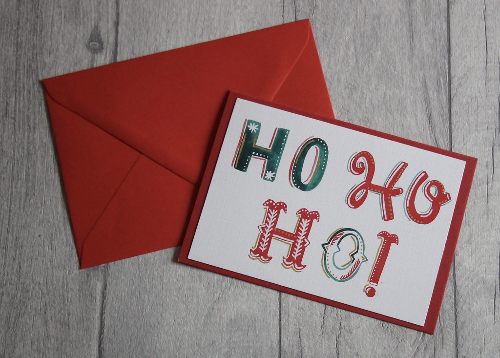 Ho ho ho! Handmade bespoke Christmas cards on Etsy