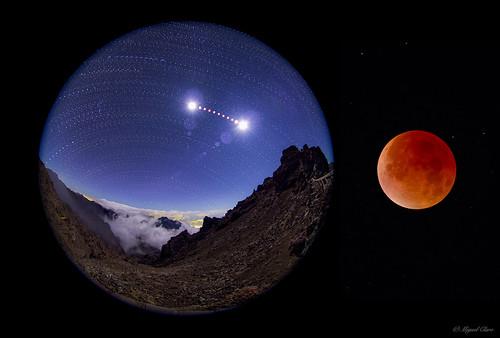 VCSE - Mai kép - Holdfogyatkozás a Kanári-szigetek felett