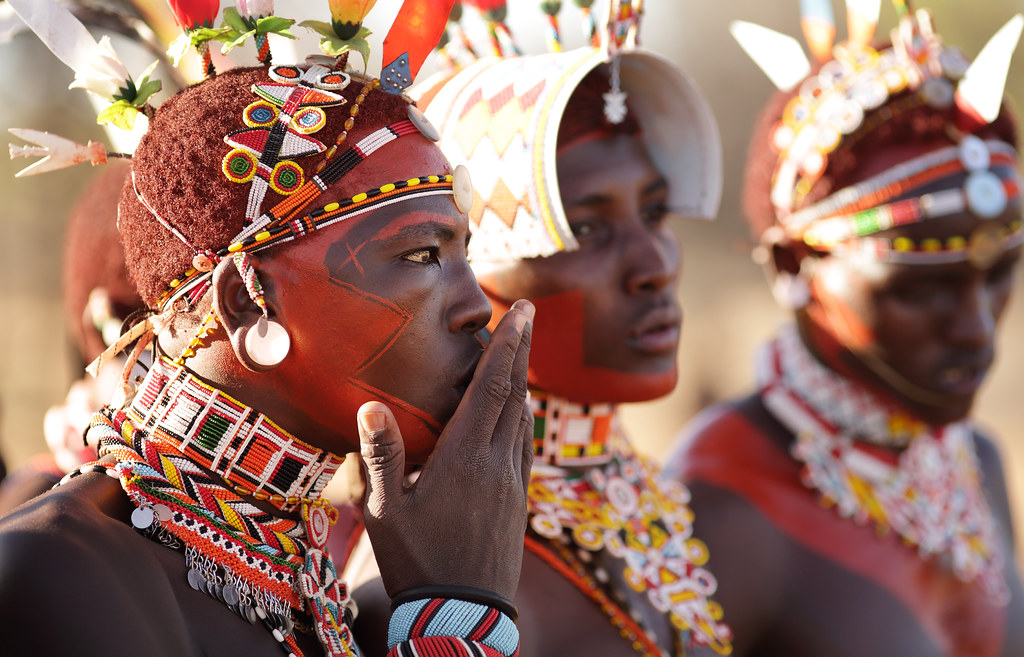Kenya, Samburu warriors (moran) | Colorful Samburu ...