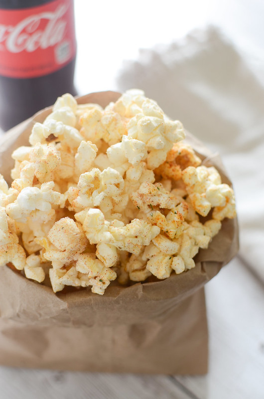 BBQ Ranch Popcorn recipe - a fun way to jazz up a plain bag of popcorn! And so easy!