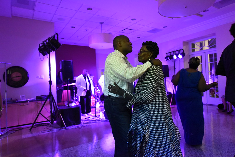 Calvin Corridors dances with his mother during the gala. | Riley Bunch