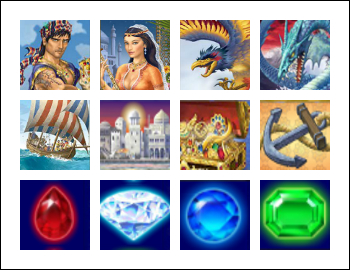 free Sinbad's Golden Voyage slot game symbols