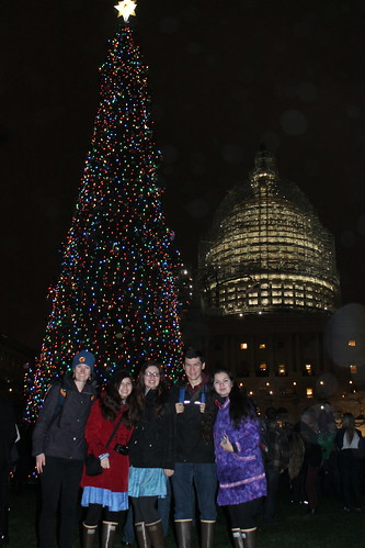 Chugach Children's Forest Alumni attending the 2015 U.S. Capitol Christmas Tree lighting