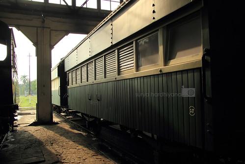 Salah Satu Gerbong di Museum Kereta Api Ambarawa