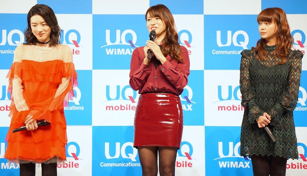 UQ mobile、深田恭子・多部未華子・永野芽郁さんをCMキャラクターに起用