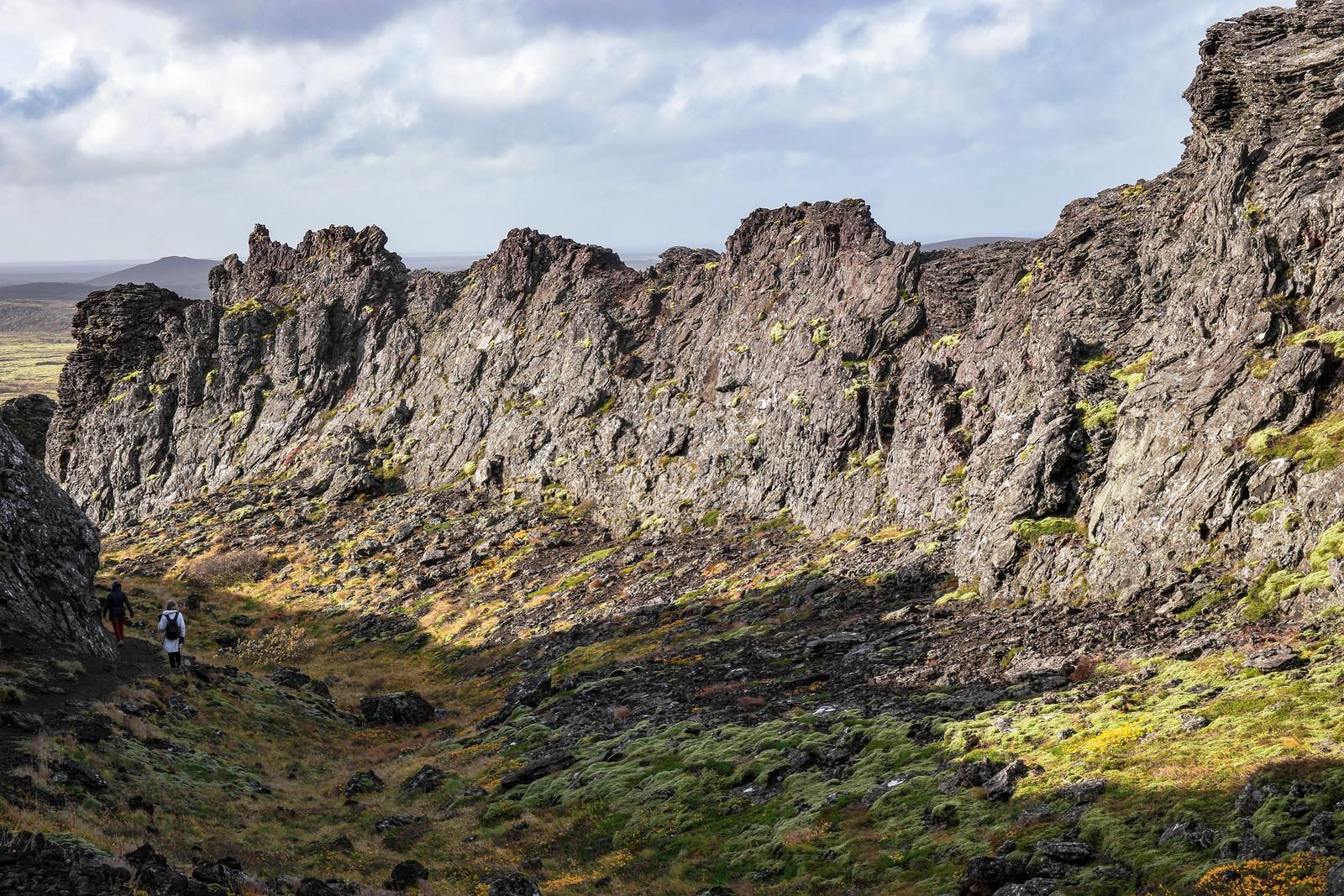 Búrfellsgjá Lava Walls