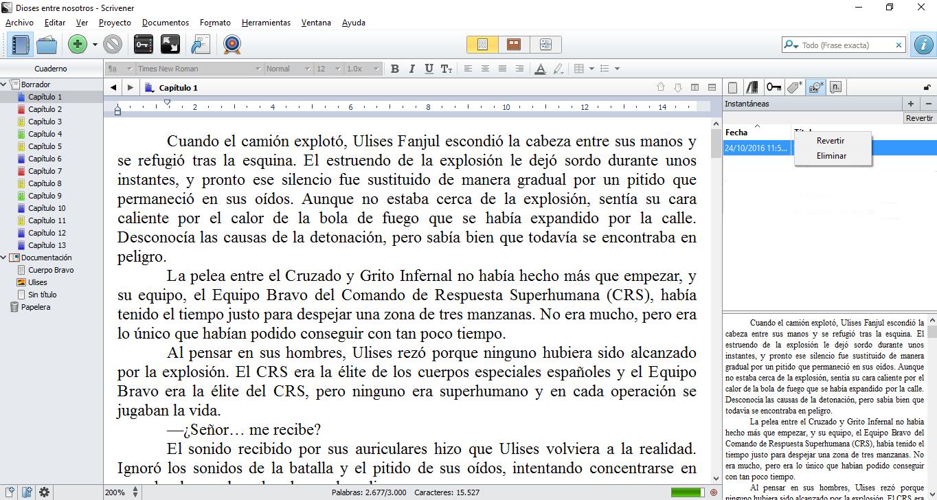 Manual de Scrivener