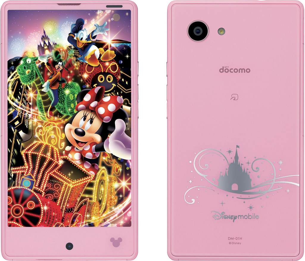 Disney Mobile on docomo DM-01H full scale product image