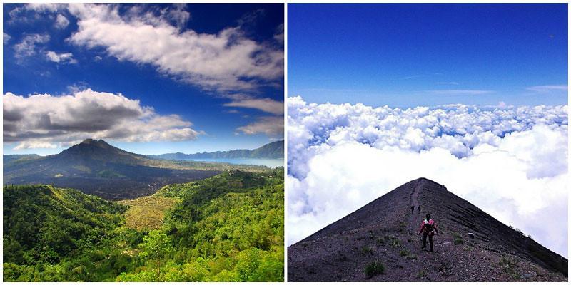 Mount Batur, Mount Agung