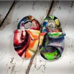 "Rainbow Swirl OBV soft sole shoe 0-6 months 4.25"""