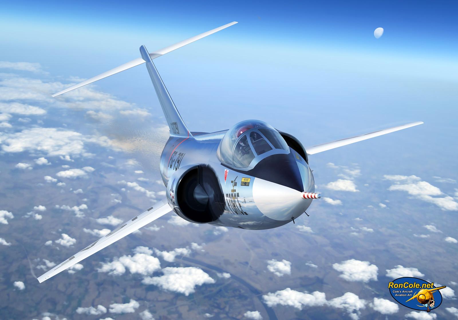 рисунок Lockheed F-104A Starfighter