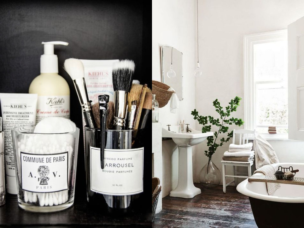 rustic and bohemian bathroom inspiration for lovefromberlin.net found on pinterest