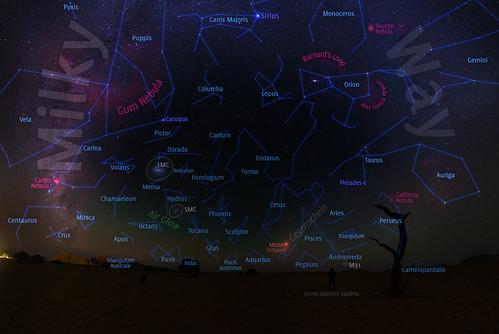 VCSE - Mai kép - Holdfogyatkozás és Gegenschein Namíbiából