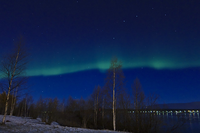 Aurora Boreal sobre Rovaniemi