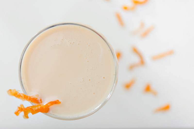 candied orange bourbon cocktail
