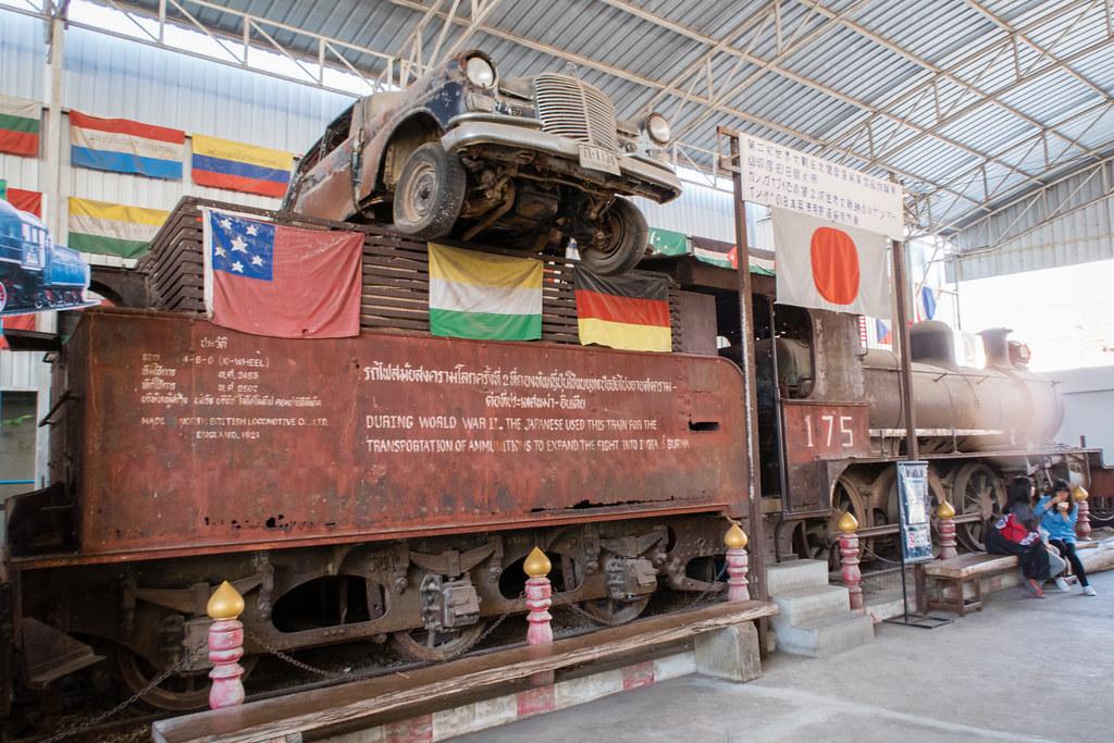 Train, War Museum, Bridge over River Kwai, Kanchanaburi ...