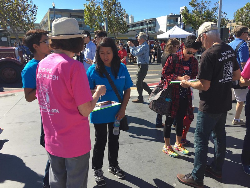 San Francisco, Fisherman's Wharf Leafleting Event – September 24, 2016