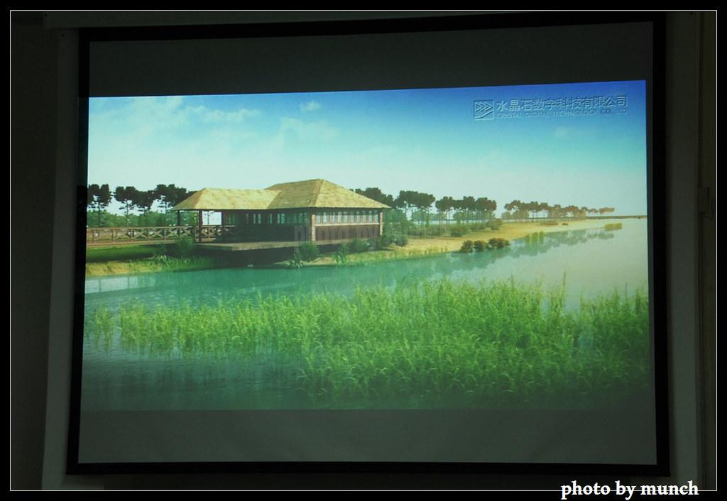 中國工業區內的濕地花園願景圖。