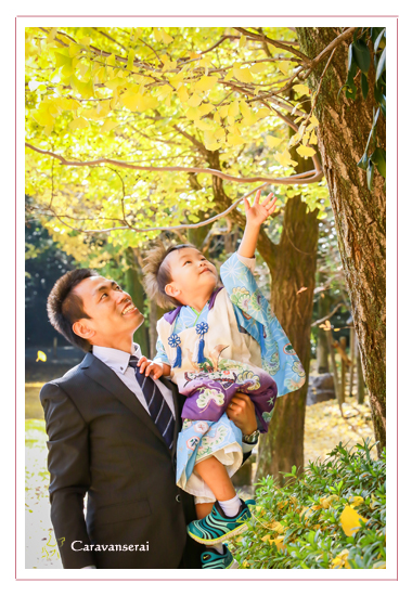 熱田神宮(名古屋市熱田区)と白鳥公園で七五三写真の出張撮影 男の子 着物 和装 神社 ロケーション撮影 フォトスタジオ 写真館
