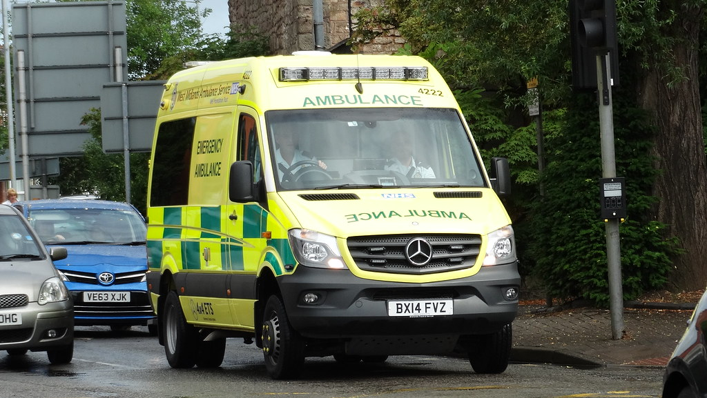 west midlands ambulance service 4222 emergency ambulan