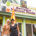 Semilla Natural Foods owner Jane Lumsden and intern Elizabeth Estrada (l to r) in front of Lumsden's store in Las Vegas, New Mexico.