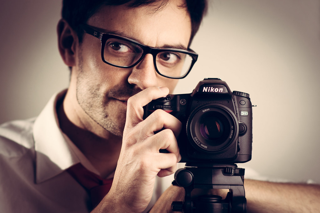self portrait, photographer, photog, lighting, nikon, DSLR, glasses