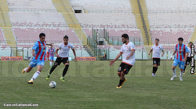 Valerio Anastasi in azione a Messina