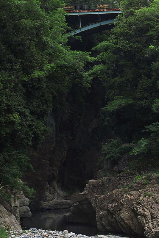 大月市 猿橋と桂川の渓谷