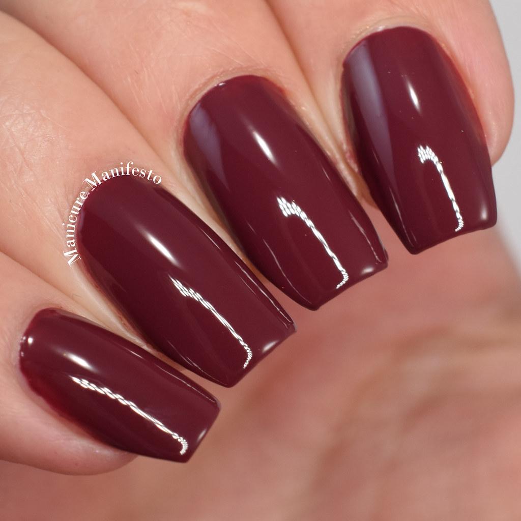 Burgundy creme nail polish
