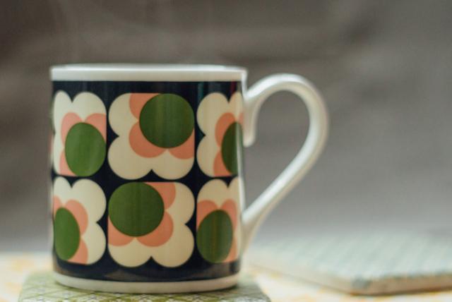 orla kiely flower mug