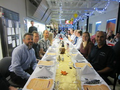 Thanksgiving dinner at South Pole Station