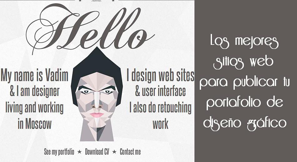 Los mejores sitios web para publicar tu portafolio de for Portafolio de diseno grafico pdf